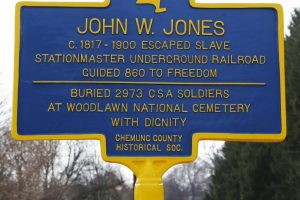 Historical marker commemorating Jones' life and work. Photo: T.C. Owens