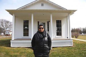Talima Aaron outside the John W. Jones Museum. Photo: T.C. Owens