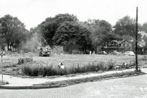 Jones Court construction, 1951. Courtesy of the Chemung County Historical Society.