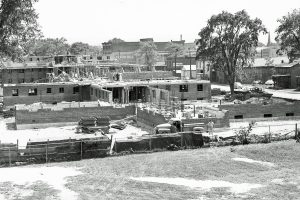 Jones Court construction, 1952. Courtesy of the Chemung County Historical Society.