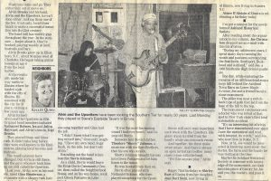 Press clipping fo the Star Upsetters reboot. Courtesy of Julia and Christa Heyward.